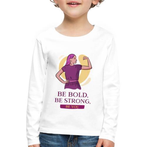 t shirt design generator featuring an empowered - Camiseta de manga larga premium niño