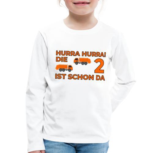 Drugie urodziny Śmieciarka - Koszulka dziecięca Premium z długim rękawem