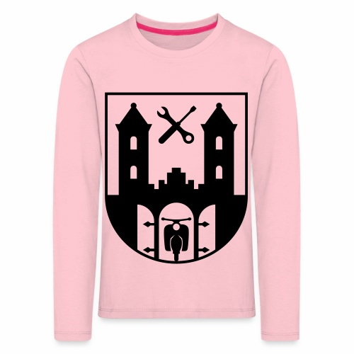 Simson Schwalbe - Suhl Coat of Arms (1c) - Kids' Premium Longsleeve Shirt