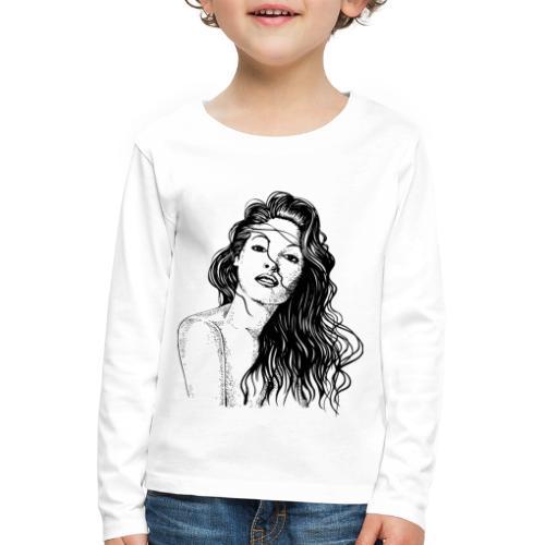 Schöne Frau - Kinder Premium Langarmshirt
