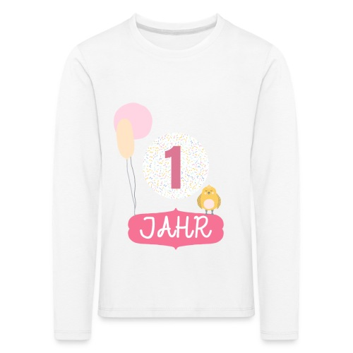 1 Jahr. Das Geburtstag T-Shirt zum 1. Geburtstag. - Kinder Premium Langarmshirt