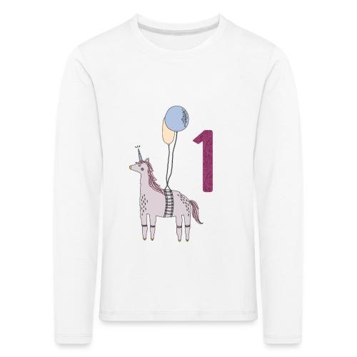 1 Jahr Einhorn / Geschenkidee zum 1. Geburtstag - Kinder Premium Langarmshirt