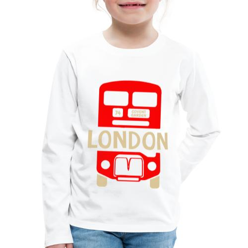 London Bus Roter Doppeldecker London Fan Souvenir - Kinder Premium Langarmshirt