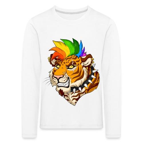 Punk Tiger - Koszulka dziecięca Premium z długim rękawem