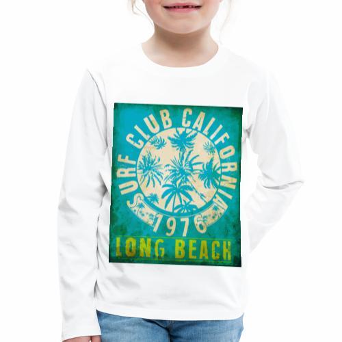 Long Beach Surf Club California 1976 Gift Idea - Kids' Premium Longsleeve Shirt