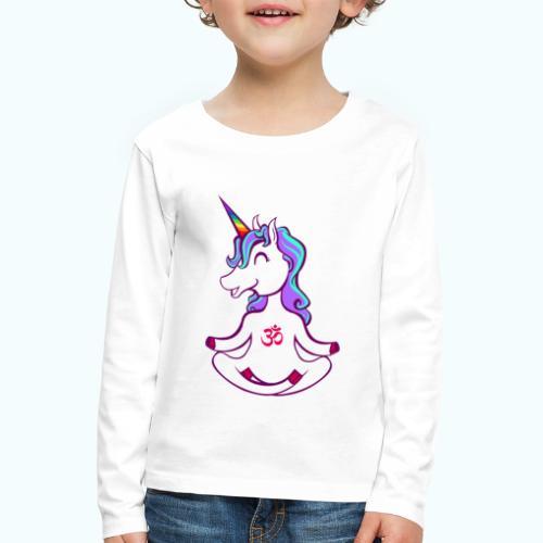 Unicorn meditation - Kids' Premium Longsleeve Shirt