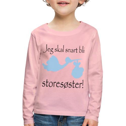 jeg skal bli storesøster - Premium langermet T-skjorte for barn