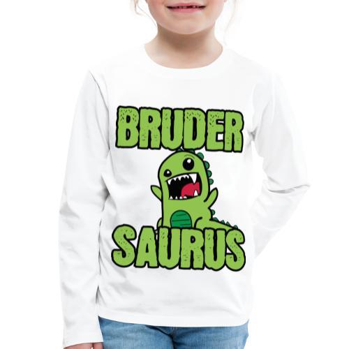 Brudersaurus Dinosaurier Kinder Baby Shirt - Kinder Premium Langarmshirt