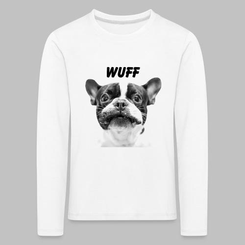 Wuff - Hundeblick - Hundemotiv Hundekopf - Kinder Premium Langarmshirt