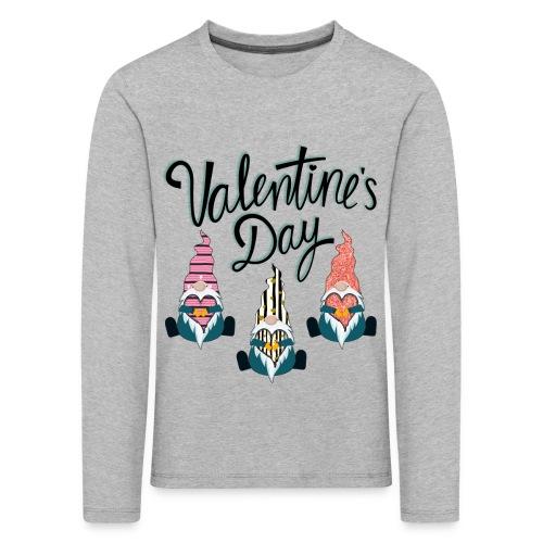 Valentine's Day Gnome - Kids' Premium Longsleeve Shirt