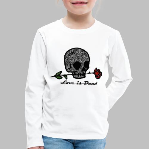 Love Is Dead Custom Skull Design - Kinderen Premium shirt met lange mouwen