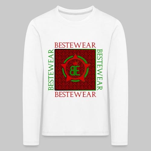 #Bestewear - Royal Line (Green/Red) - Kinder Premium Langarmshirt