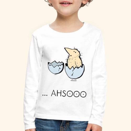 Urbane Krähe Küken erblickt das Licht der Welt - Kinder Premium Langarmshirt