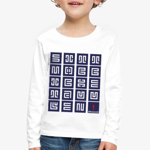 SittMocciche - Maglietta Premium a manica lunga per bambini