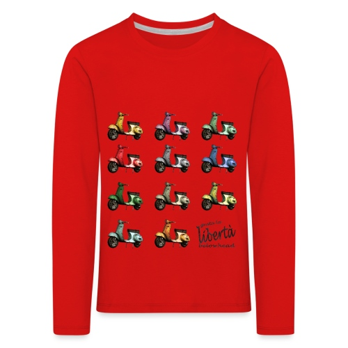 ♂ BIO-SHIRT: gusta la libertà - Kinder Premium Langarmshirt