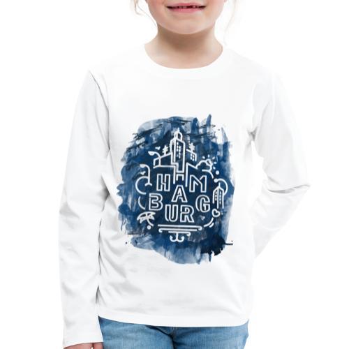 Hamburg_Ink.png - Kinder Premium Langarmshirt
