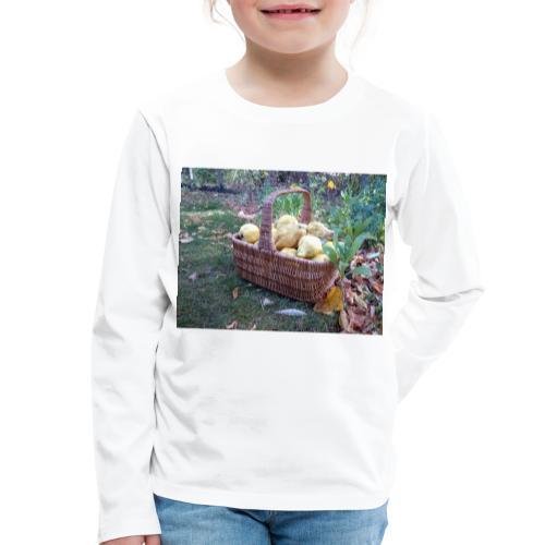 Quitten-Korb - Kinder Premium Langarmshirt