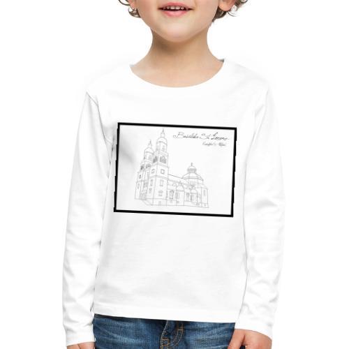 T Shirt Basilika St Lorenz Kempten Allgaeu - Kinder Premium Langarmshirt