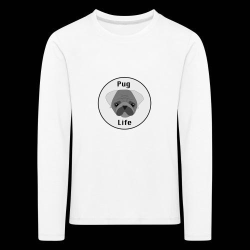 Pug Life - Lasten premium pitkähihainen t-paita