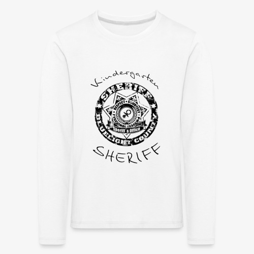 kindergarten sheriff schwarz - Kinder Premium Langarmshirt