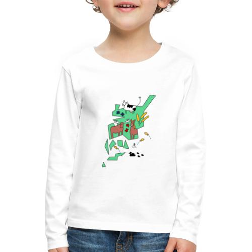 Åboland × Eva: Kimitoöns djurliv - Lasten premium pitkähihainen t-paita