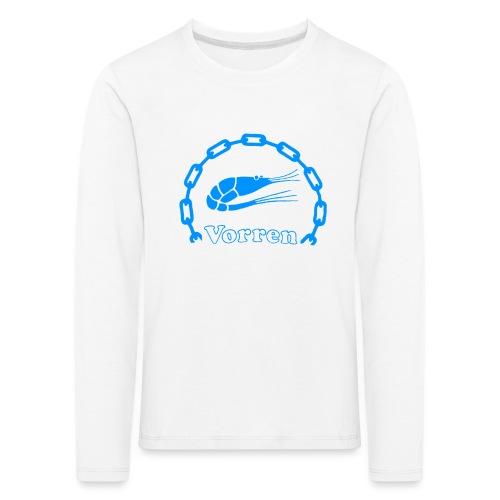 Vorren Logo CLASSIC [Blue] - Långärmad premium-T-shirt barn