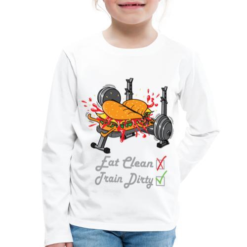 Hamburger Développé Couché Musculation - T-shirt manches longues Premium Enfant