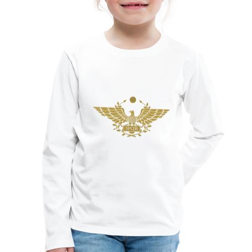 Orzeł SPQR   Eagle of SPQR - Koszulka dziecięca Premium z długim rękawem