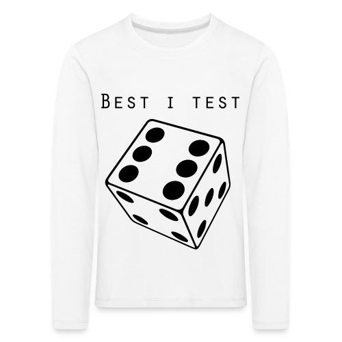 Best i test - Premium langermet T-skjorte for barn