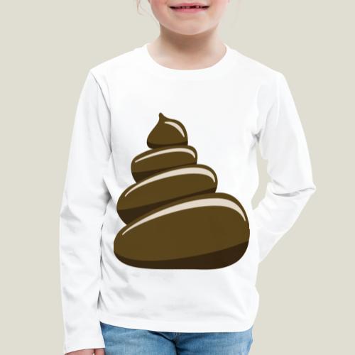 Bajskorv, Turd, Crap, Poop, Shit, Shite - Långärmad premium-T-shirt barn