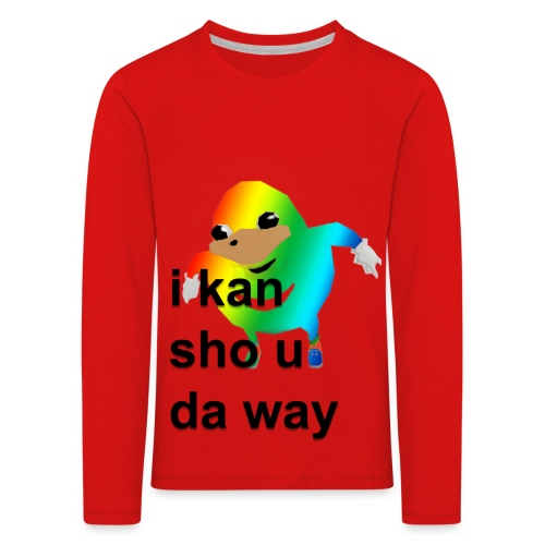 uganda - Lasten premium pitkähihainen t-paita