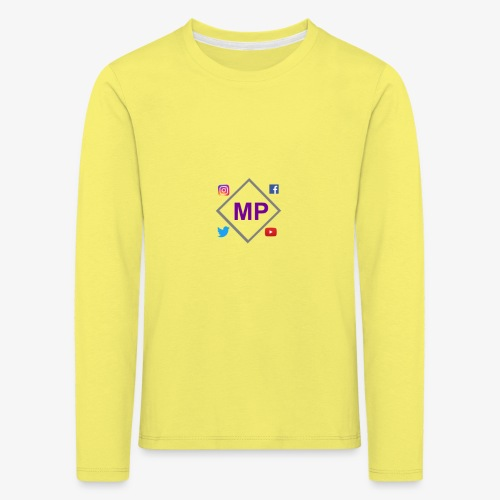 MP logo with social media icons - Kids' Premium Longsleeve Shirt