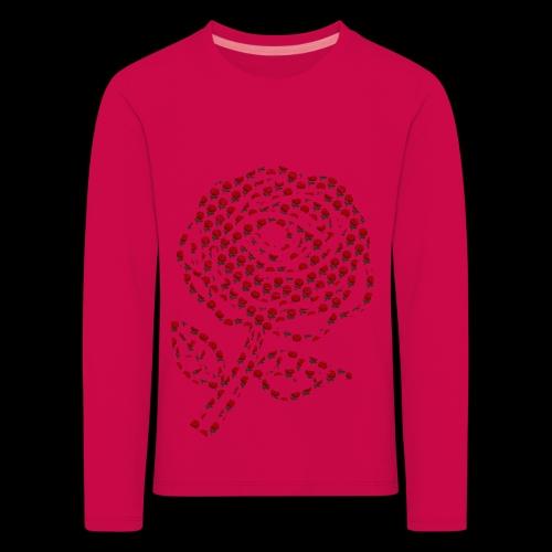 Rose aus Rosen - Kinder Premium Langarmshirt