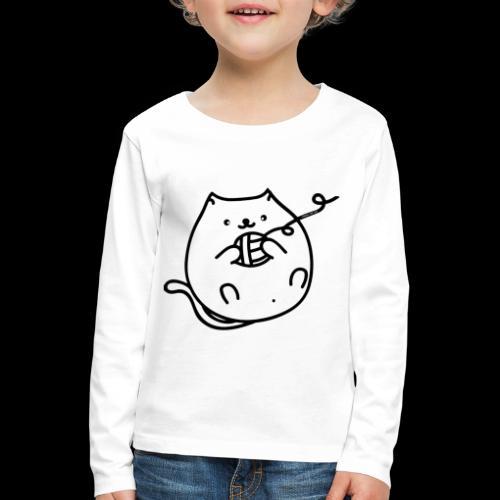 classic fat cat - Kinder Premium Langarmshirt