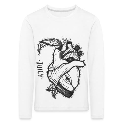 Apple Heart B - Camiseta de manga larga premium niño