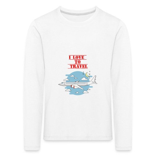 I Love To Travel - Maglietta Premium a manica lunga per bambini