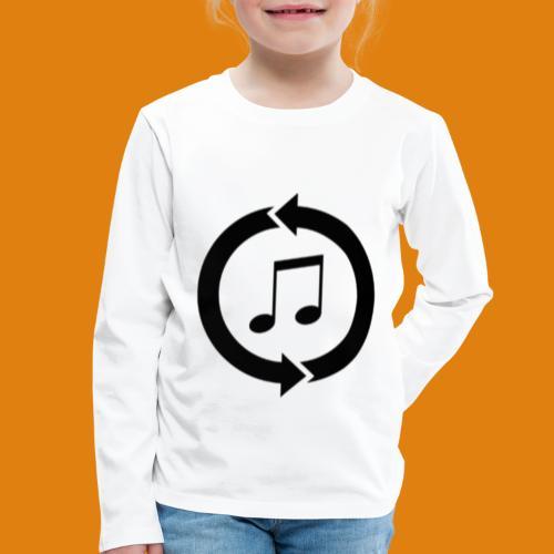 music, renew music, music, t-shirt music - Kids' Premium Longsleeve Shirt