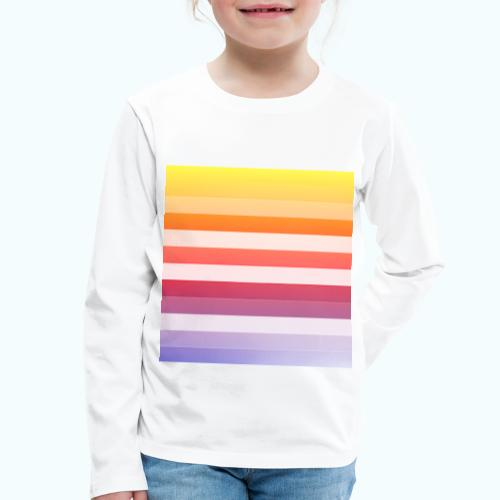 Rainbow Abstract Acrylic Painting - Kids' Premium Longsleeve Shirt
