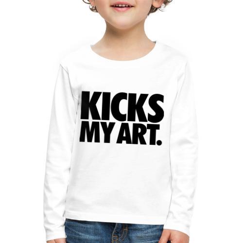Kicks My Art By MizAl - Koszulka dziecięca Premium z długim rękawem