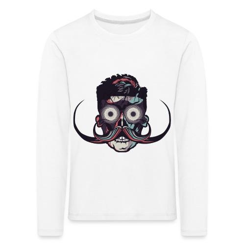 hipster tete de mort crane barbu skull moustache b - T-shirt manches longues Premium Enfant