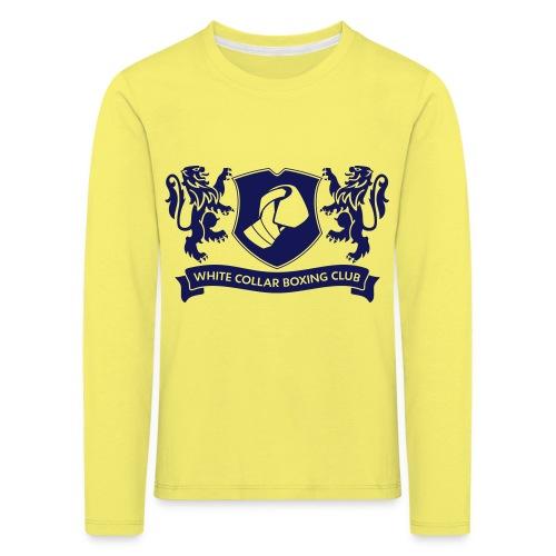 White Collar Boxing Hoodie Classic-Blue - Kinder Premium Langarmshirt