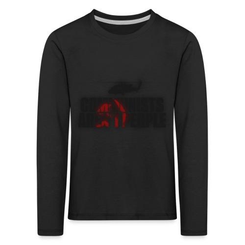Communists aren't People (No uzalu logo) - Kids' Premium Longsleeve Shirt