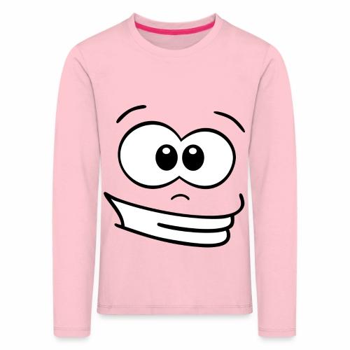 Gesicht grinsen - Kinder Premium Langarmshirt