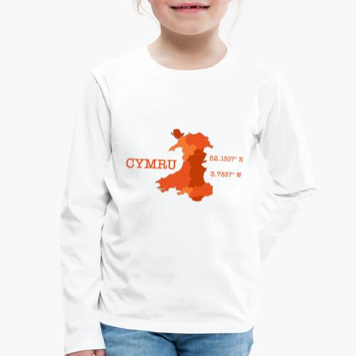 Cymru - Latitude / Longitude - Kids' Premium Longsleeve Shirt