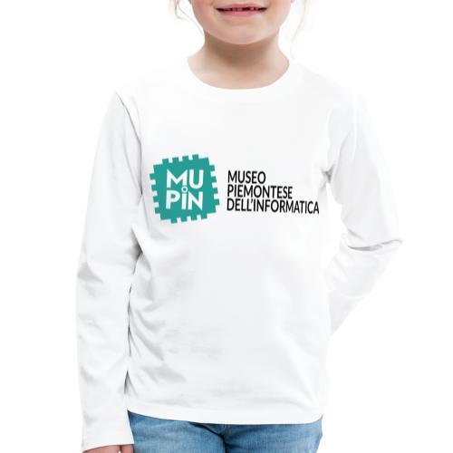 Logo Mupin con scritta - Maglietta Premium a manica lunga per bambini