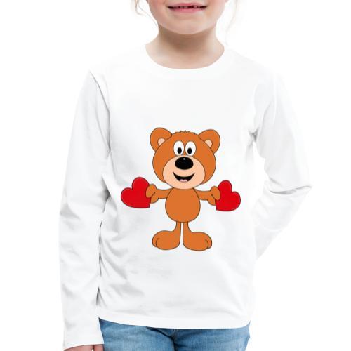 TEDDY - BÄR - LIEBE - LOVE - KIND - BABY - Kinder Premium Langarmshirt