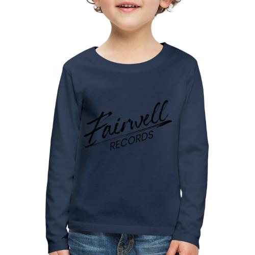 Fairwell Records - Black Collection - Børne premium T-shirt med lange ærmer