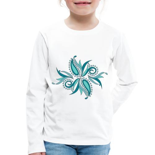 petali e foglie astratte - Maglietta Premium a manica lunga per bambini