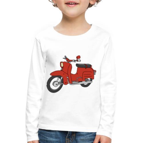 Schwalbe (ibizarot) - Kinder Premium Langarmshirt