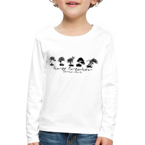 tree creator bonsa art horizon - T-shirt manches longues Premium Enfant